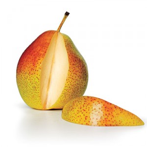pear with slice out
